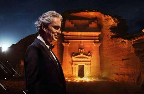 Andrea Bocelli fez concerto em patrimônio Unesco de Hegra, em Al-Ula