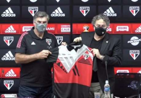 Zetti foi apresentado no São Paulo (Foto: Captura de Tela/SPFCTV)
