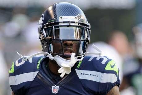 Phillip Adams em jogo da NFL pelo Seattle Seahawks   11/8/2012   Steven Bisig-USA TODAY Sports via REUTERS