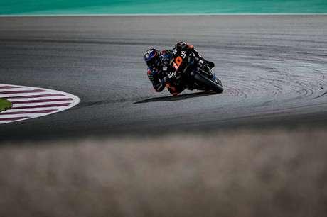 Luca Marini foi o 16º colocado em sua primeira corrida na categoria