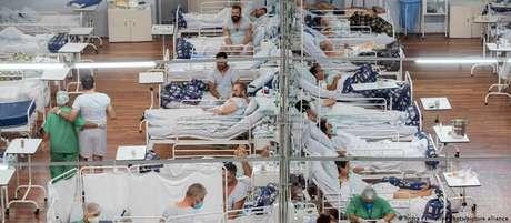 Hospital de Campanha em Santo André no início de março