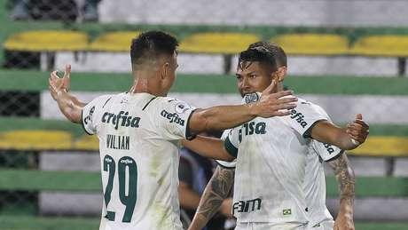 Rony abriu o placar para o Palmeiras