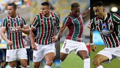 Marlon, Mascarenhas, Pablo Dyego e Robinho são alguns dos emprestados do Fluminense (Montagem LANCE!)