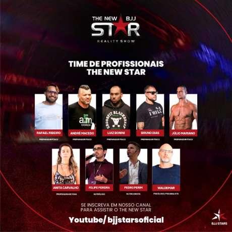 Organização anunciou os profissionais que irão auxiliar os atletas no reality show (Foto: divulgação)