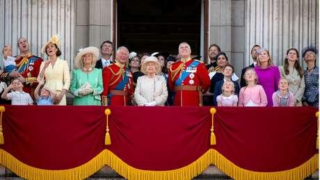 Em 2019, membros da família real comemoraram o aniversário da rainha no Palácio de Buckingham