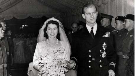 Ainda princesa, Elizabeth casou com o príncipe Philip em 1947