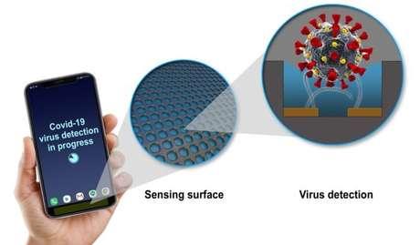 Sensor em um celular poderá detectar a presença do vírus da COVID-19