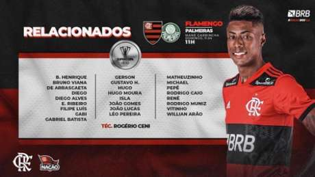 Os 25 relacionados do Flamengo (Foto: Divulgação / CRF)