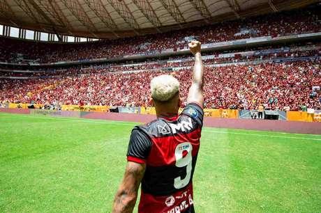 Gabi comemora após conquistar a Supercopa em 2020 (Foto: Alexandre Vidal/Flamengo)