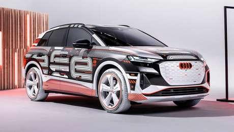 Audi Q4 e-tron terá visual final revelado no dia 14 de abril.