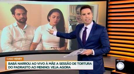 """O tribunal da TV: """"Se matam meu filho, eu não vou dizer o que eu faria com quem cometeu o crime"""", disse Luiz Bacci na TV, ao se colocar no lugar de Monique, mãe de Henry"""