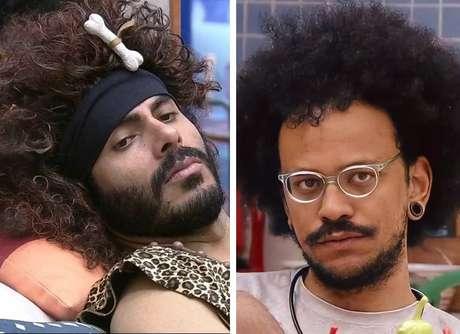 Rodolffo (à esquerda) foi eliminado do BBB21 dias depois de ter fala racista contra João Luiz (à direita)