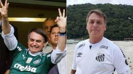 Jair Bolsonaro tem profunda relação com futebol (Aloisio Mauricio/Fotoarena; Reprodução)