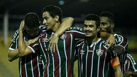 Fluminense venceu o Macaé na última rodada por 4 a 0, em Volta Redonda (Foto: Lucas Merçon/FFC)