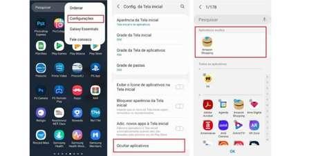 Como encontrar aplicativos ocultos pelo menu da tela de apps