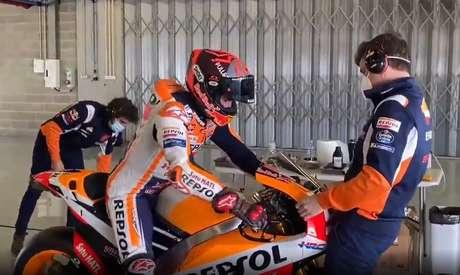 Em Portimão, Marc Márquez faz novo teste com moto da Honda em preparação para volta ao Mundial da MotoGP