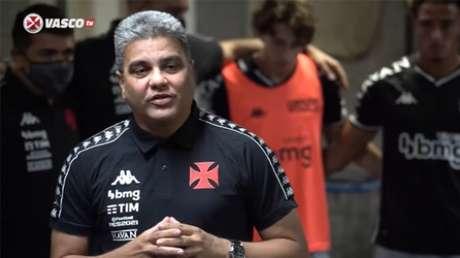 Cabo defende o estilo de jogo apoiado (Reprodução / Vasco TV)