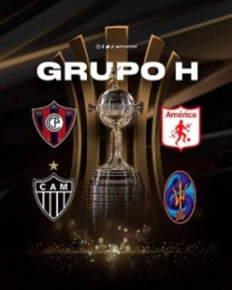 O Galo está no Grupo H com América de Cali-COL, Cerro Porteño-PAR e Deportivo La Guaíra-VEN-(Reprodução/Conmebol)