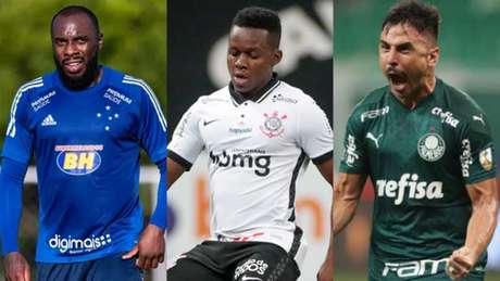 Manoel, Cazares e Willian estão no radar do Fluminense para a temporada (Montagem LANCE!)