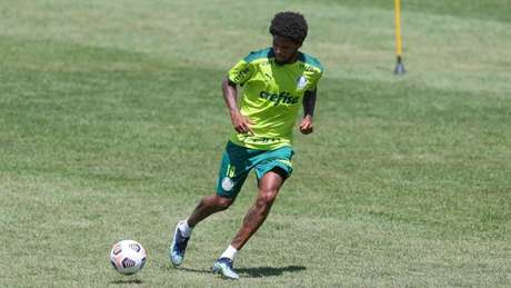 Luiz Adriano está de volta aos treinamentos após isolamento social (Foto: Cesar Greco/Palmeiras)