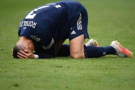 Cristiano Ronaldo passou a partida sem marcar gols (Marco BERTORELLO / AFP)
