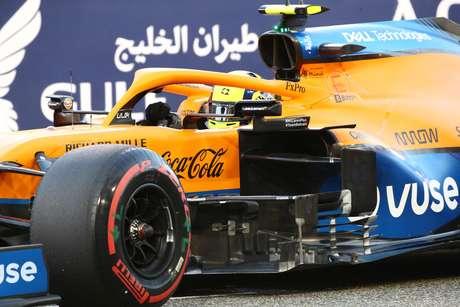 Lando Norris no GP inaugural da temporada 2021 da Fórmula 1, no Bahrein