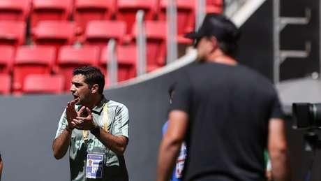 Abel Ferreira foi expulso no primeiro tempo da Supercopa do Brasil (Foto: Cesar Greco/Palmeiras)