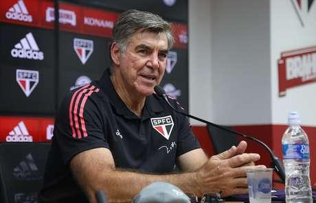 Zetti em sua apresentação como treinador de goleiros de base no São Paulo (Foto: Rubens Chiri/saopaulofc.net)