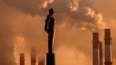 Monumentos a Gagarin permanecem até hoje na Rússia
