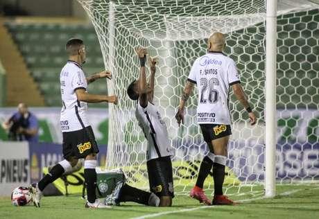 Cauê foi o autor do gol da vitória do Corinthians sobre o Guarani (Foto: Rodrigo Coca/Ag. Corinthians)