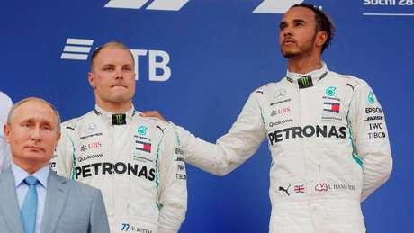 Bottas entregou vitória para Hamilton na Rússia em 2018