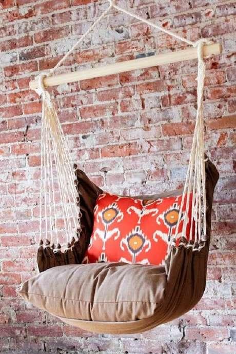 32. Modelo confortável de cadeira de balanço rede. Fonte: Pinterest