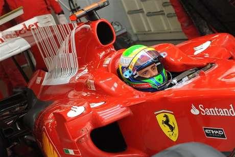 Felipe Massa em seus tempos de Ferrari