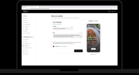 Criando um story no Uber Eats