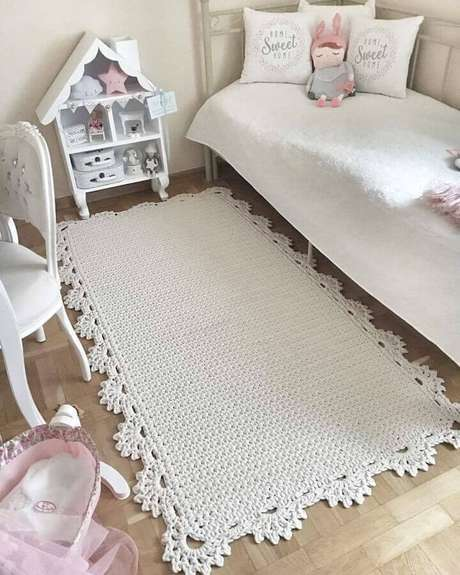 51. Modelos de tapetes de crochê para decoração de quarto infantil simples – Foto: Revista Artesanato