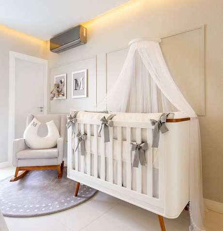 58. Quarto de bebe retro branco e cinza – Foto Puppi Mobile