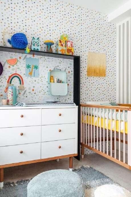 16. Quarto de bebe retrô com cômodo branco – Foto NaToca Design