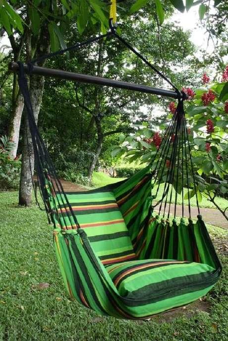 24. Com tantas opções é fácil encontrar a rede cadeira perfeita para a sua decoração. Fonte: Pinterest