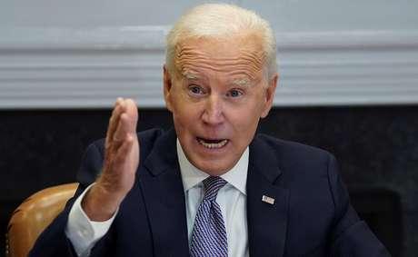 Presidente Biden na Casa Branca em Washington 12/04/2021 REUTERS/Kevin Lamarque