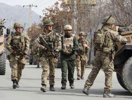 Soldados britânicos em Cabul, no Afeganistão 06/03/2020 REUTERS/Omar Sobhani