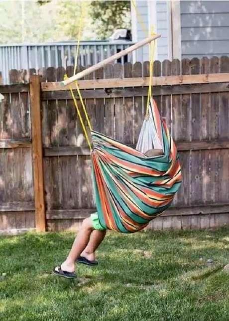21. As crianças adoram a cadeira tipo rede. Fonte: Pinterest