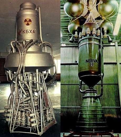 Motores de propulsão nuclear RD-0140 russo e NERVA americano