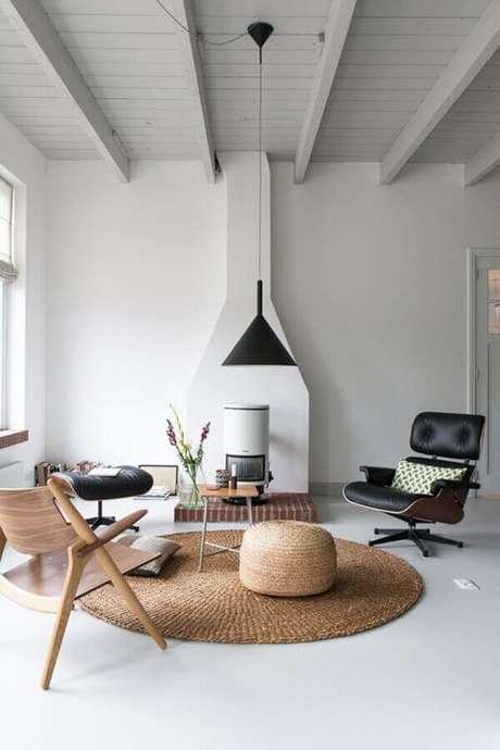 21. Modelos de tapetes de sisal são excelentes para decoração minimalista – Foto: The Fox & She