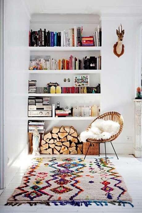 27. Modelo de tapete de retalho para decoração de cantinho de leitura – Foto: Apartment Therapy