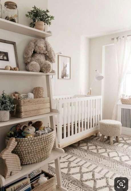 40. Decoração minimalista para quarto de bebe retro – Foto Blog Mari Calegari
