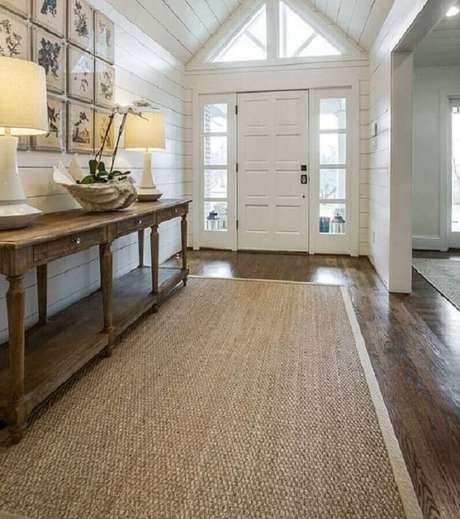 72. Modelos de tapetes sisal para decoração rústica – Foto: Pinterest