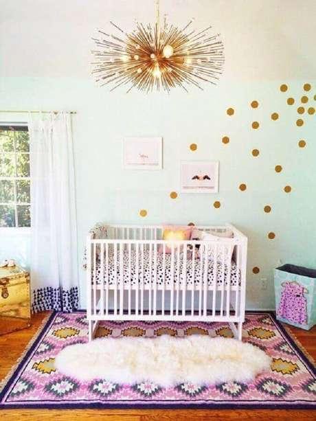 56. Modelos de tapetes diferentes para decoração de quarto de bebê simples – Foto: Pinteres