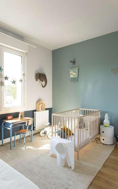 39. Quarto de bebe retro verde e azul – Foto Clemaround the Corner