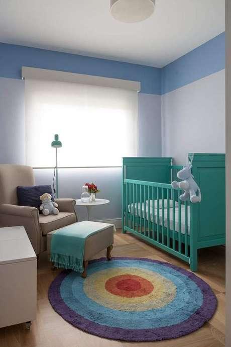 46. Quarto de bebe colorido – Foto Pinterest
