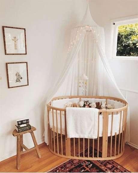 13. Quarto de bebe retro com berço oval – Foto Project Nursery